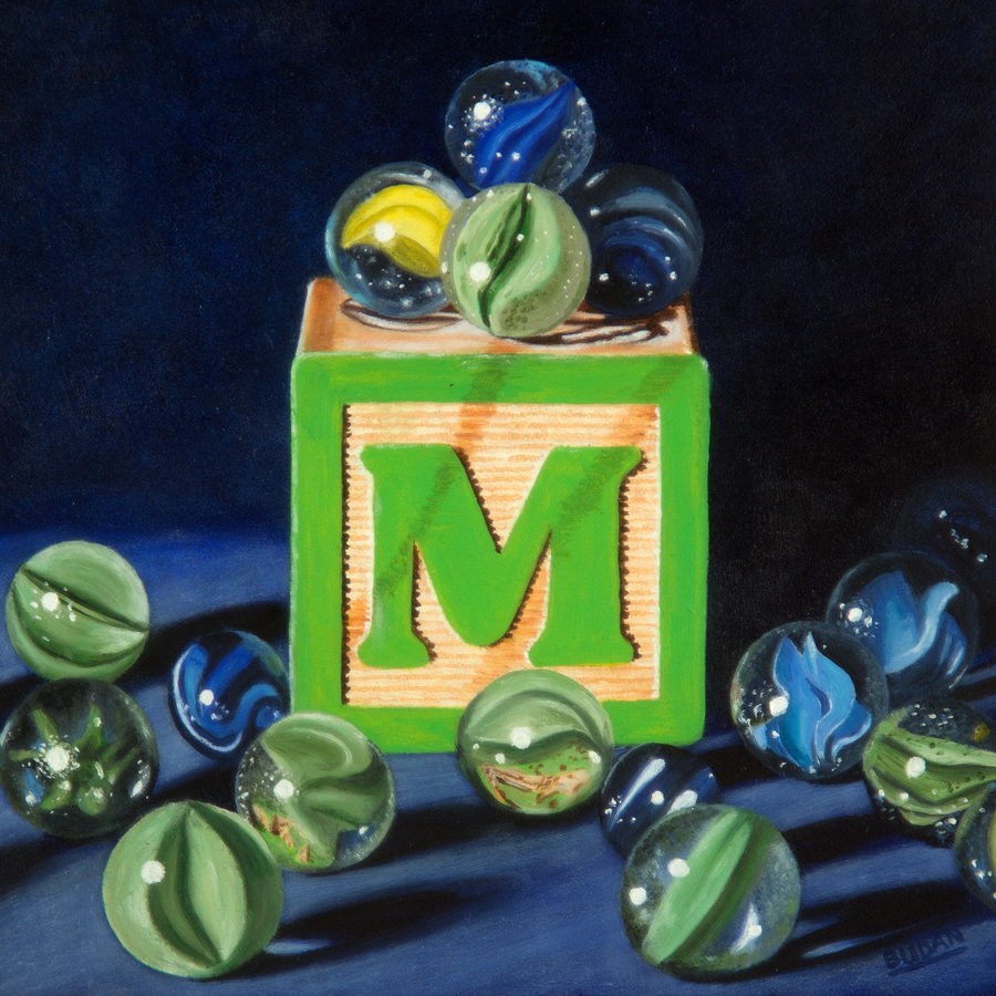 M is for Marbles