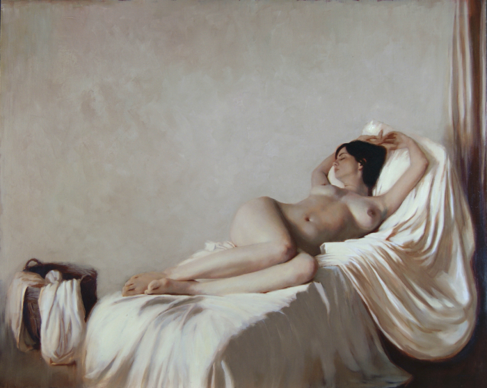Nude with Linens
