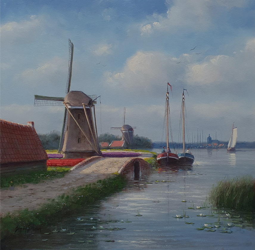 Waterlilies and Windmills