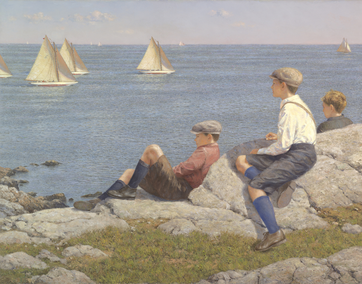Watching the Race, Marblehead c. 1916