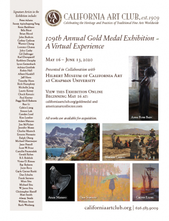 California Art Club's 109th Annual Gold Medal Exhibition – A Virtual Experience