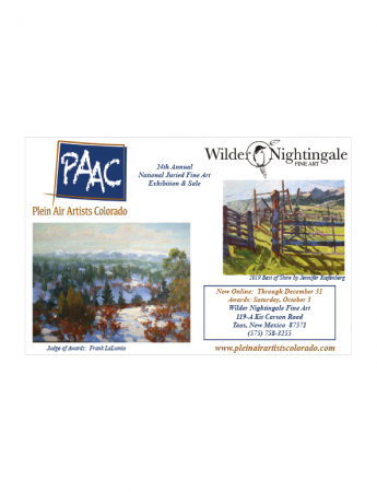 Plein Air Artists Colorado 24th National Juried Show at Wilder Nightingale Fine Art Gallery